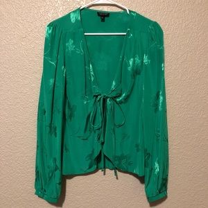 Topshop Emerald Green Blouse